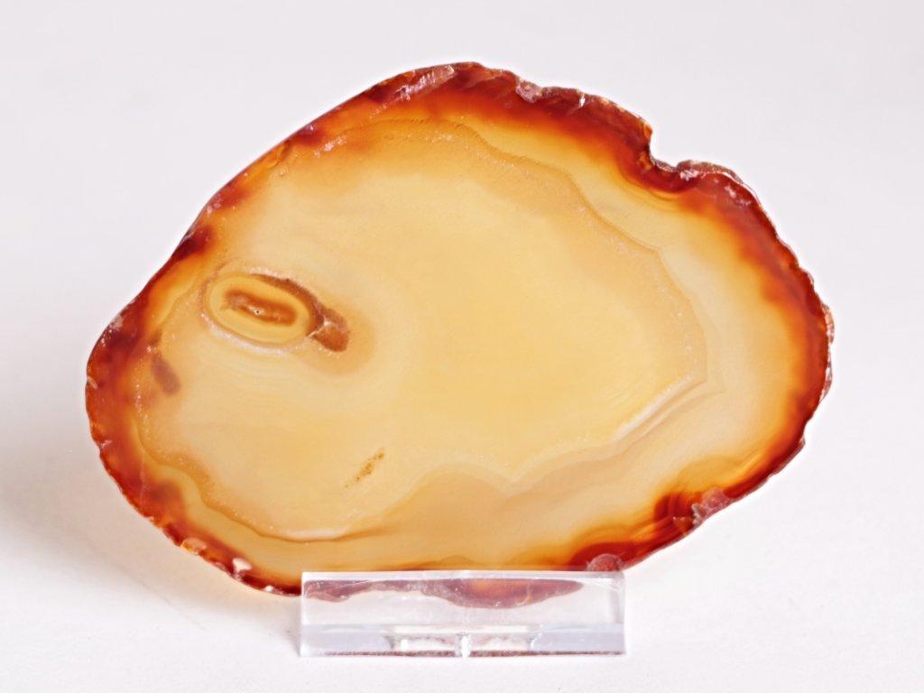 Achátový plát - velikost 9 cm + stojánek - Top kvalita - 276