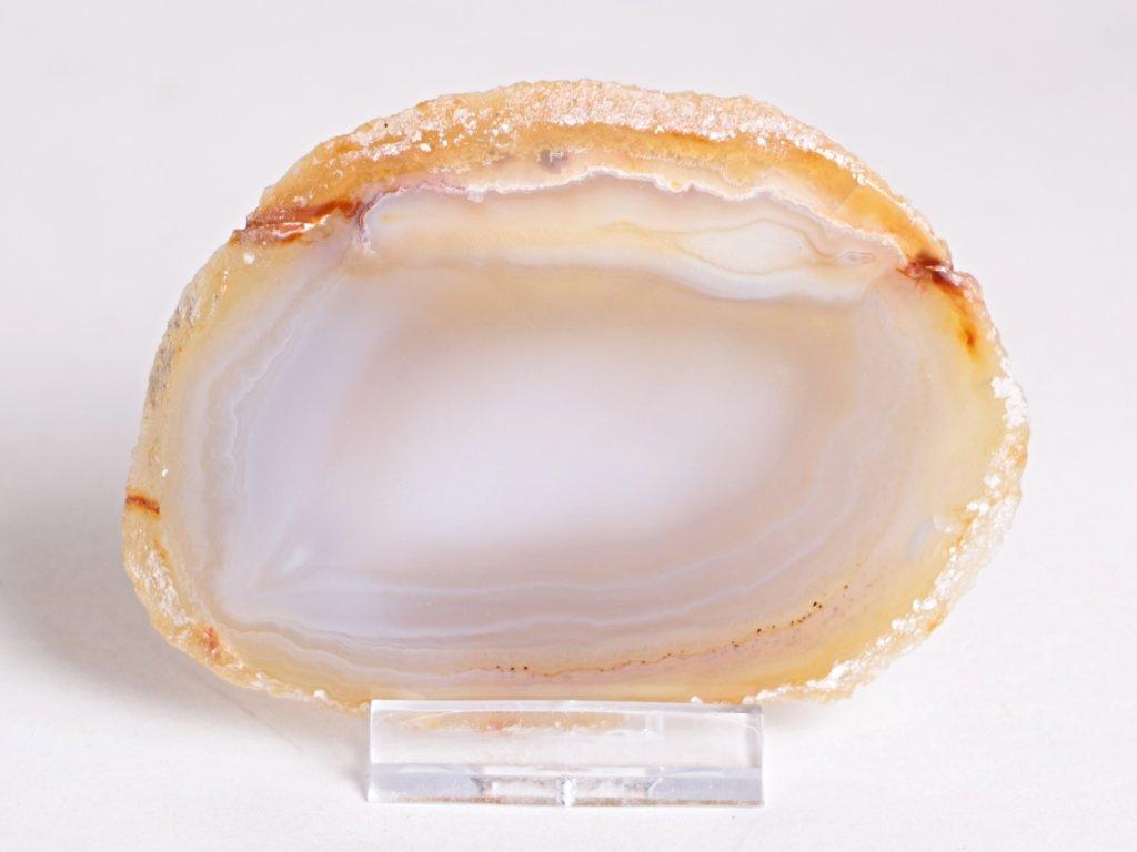 Achátový plát - velikost 9 cm + stojánek - Top kvalita - 280