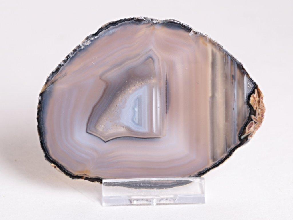 Achátový plát - velikost 9 cm + stojánek - Top kvalita - 286