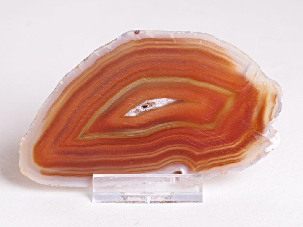 Achátový plát - velikost 10 cm + stojánek - Top kvalita - 308
