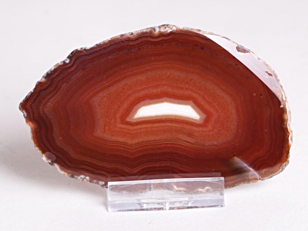 Achátový plát - velikost 10 cm + stojánek - Top kvalita - 312