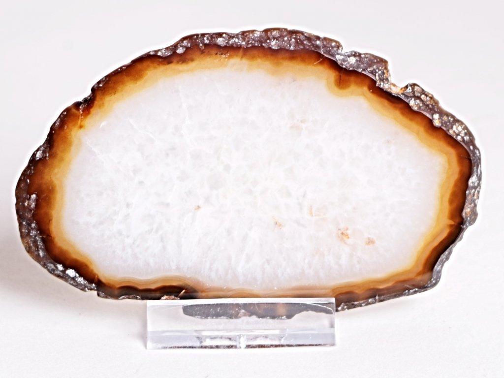 Achátový plát - velikost 10 cm + stojánek - Top kvalita - 317