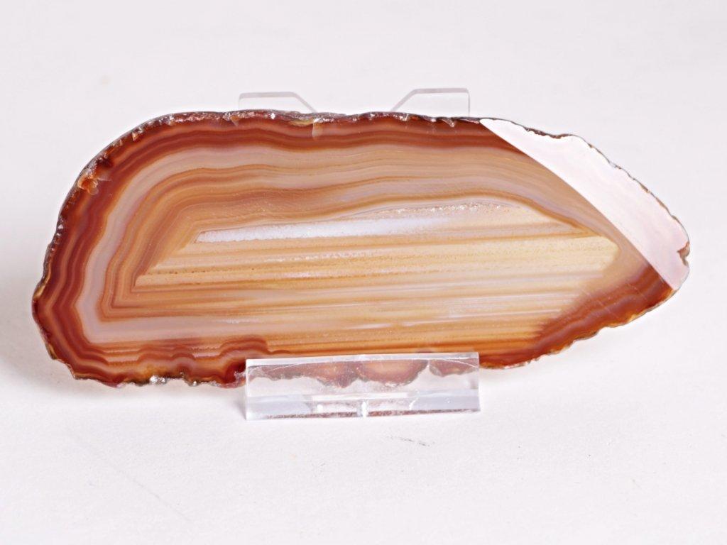 Achátový plát - velikost 12 cm + stojánek - Top kvalita - 334