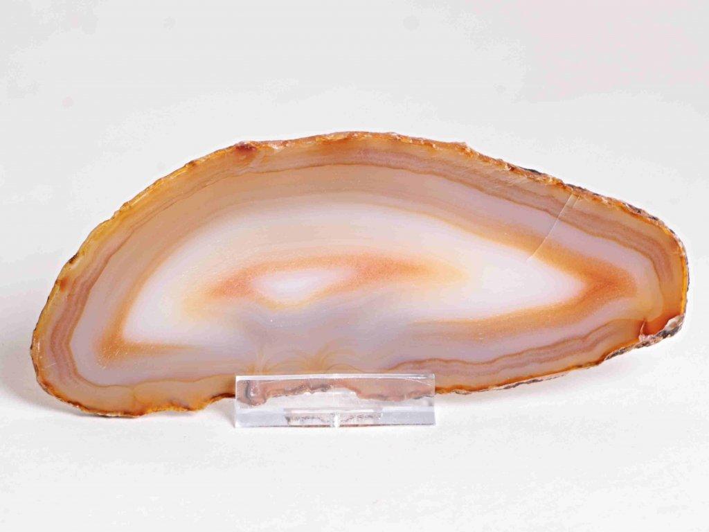 Achátový plát - velikost 14 cm + stojánek - Top kvalita - 359