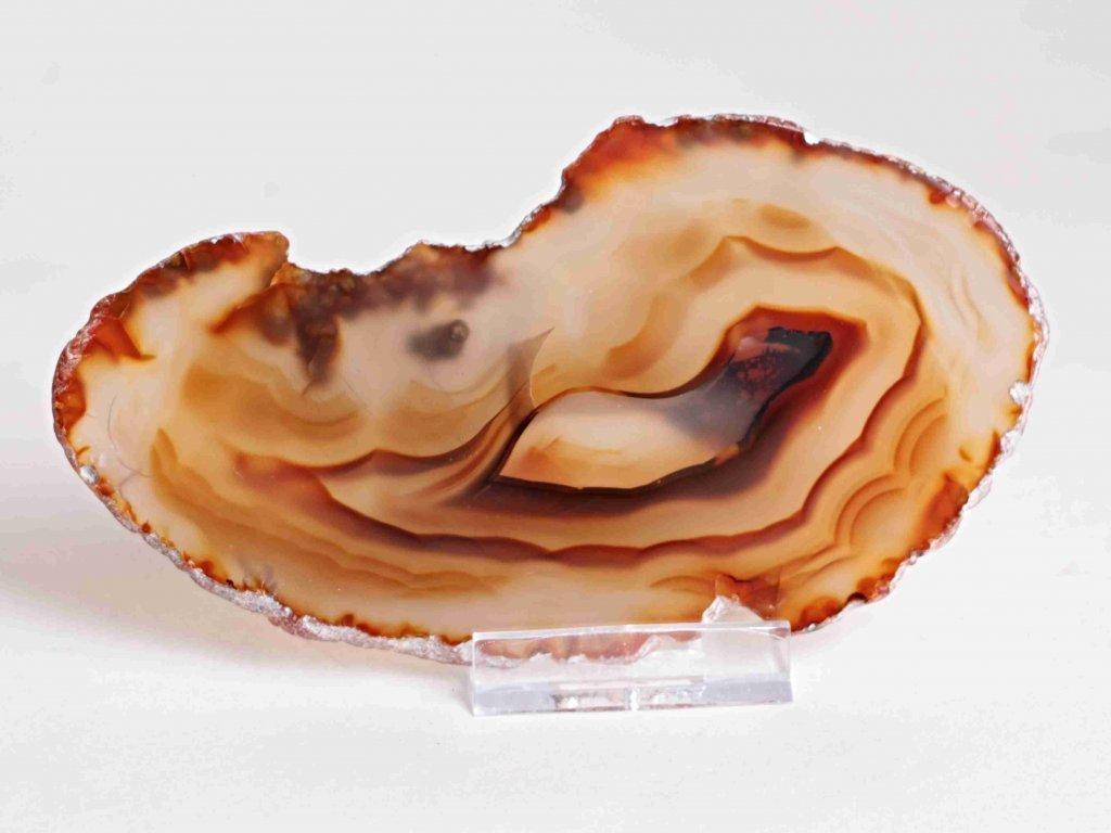 Achátový plát - velikost 13 cm + stojánek - Top kvalita - 365