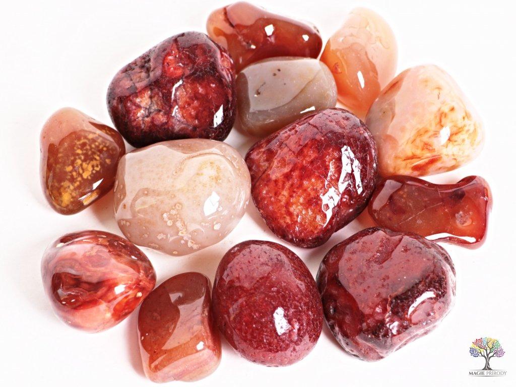 Tromlované kamínky Karneol JUMBO - kameny o velikosti 50 - 70 mm - 1kg - Brazílie  + sleva 5% po registraci na většinu zboží + dárek k objednávce