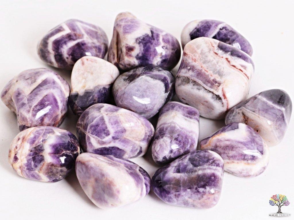 Tromlované kamínky Ametyst JUMBO - kameny o velikosti 50 - 70 mm - 1kg - Malawi  + sleva 5% po registraci na většinu zboží + dárek k objednávce