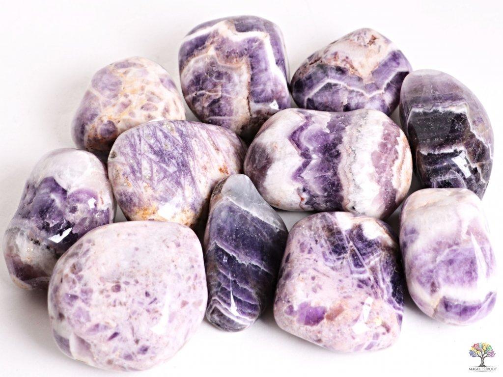 Tromlované kamínky Ametyst JUMBO XL - kameny o velikosti 70 - 110 mm - 500g - Malawi