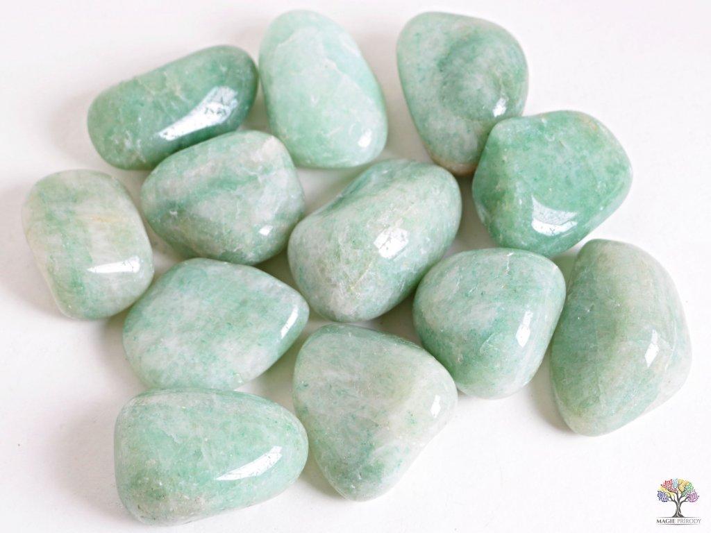 Tromlované kamínky Amazonit JUMBO - kameny o velikosti 50 - 70 mm - 1kg - Brazílie
