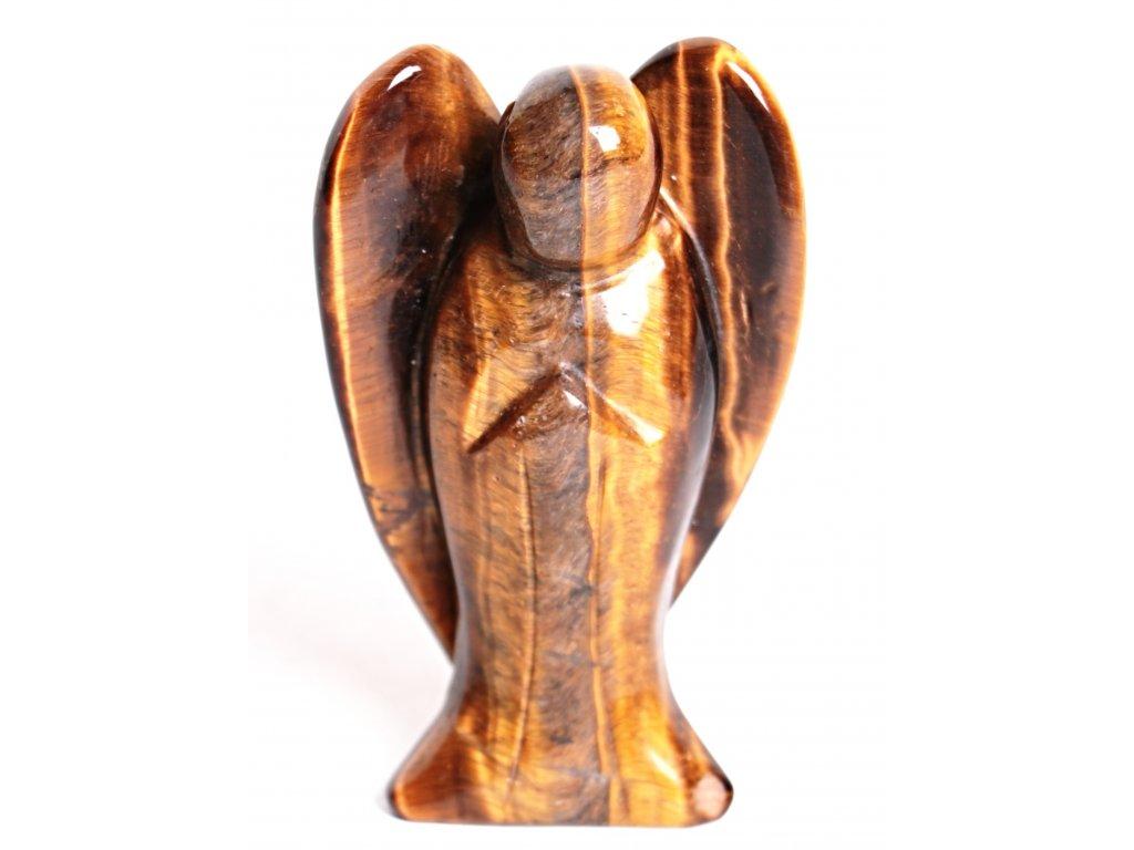 Anděl Tygří oko 75x45 mm - Anděl z přírodního kamene #01