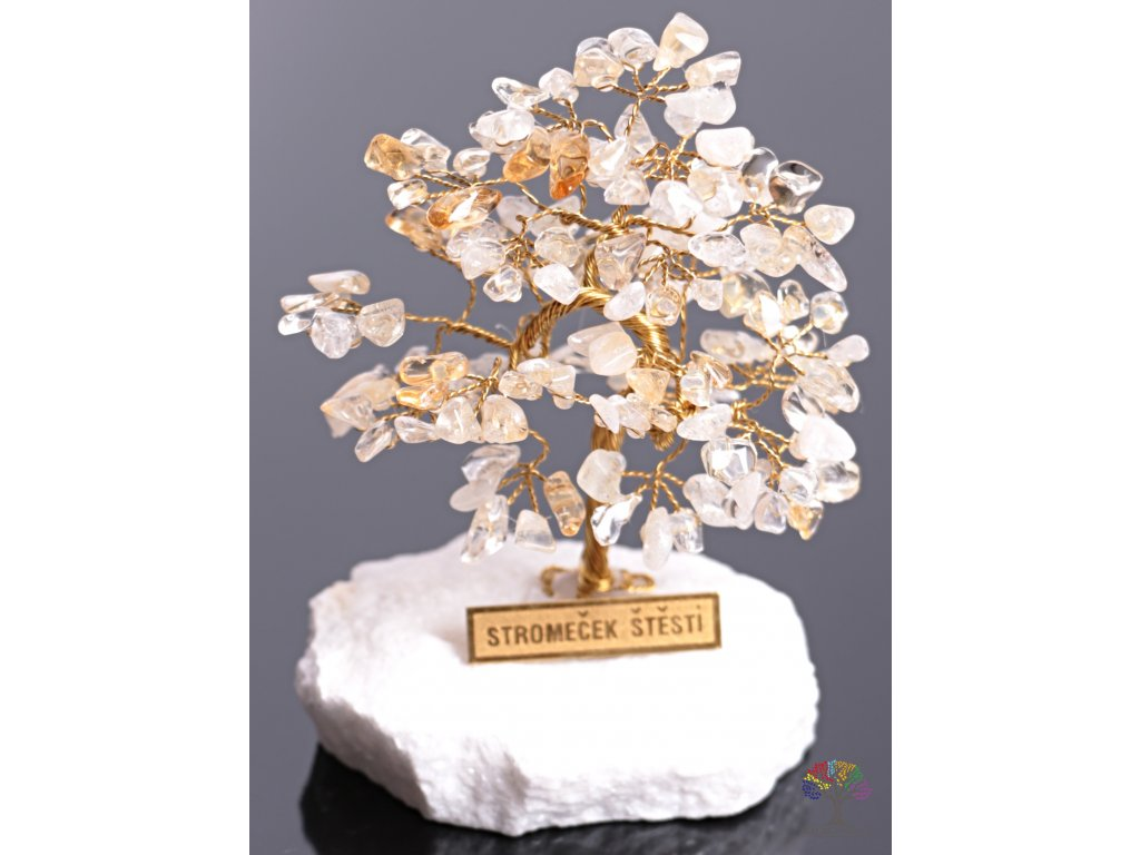 Citrínový stromeček štěstí 9 cm - R4 - #89