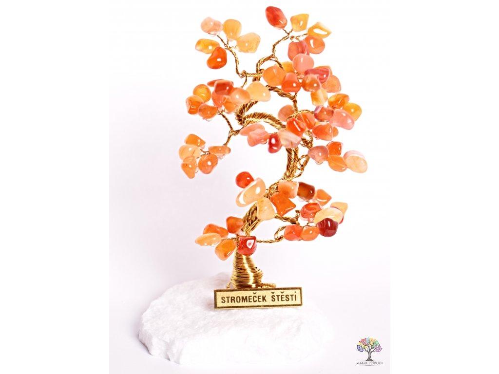 Karneolový stromeček štěstí 15 cm - B1 - #91  + sleva 5% po registraci na většinu zboží + dárek k objednávce
