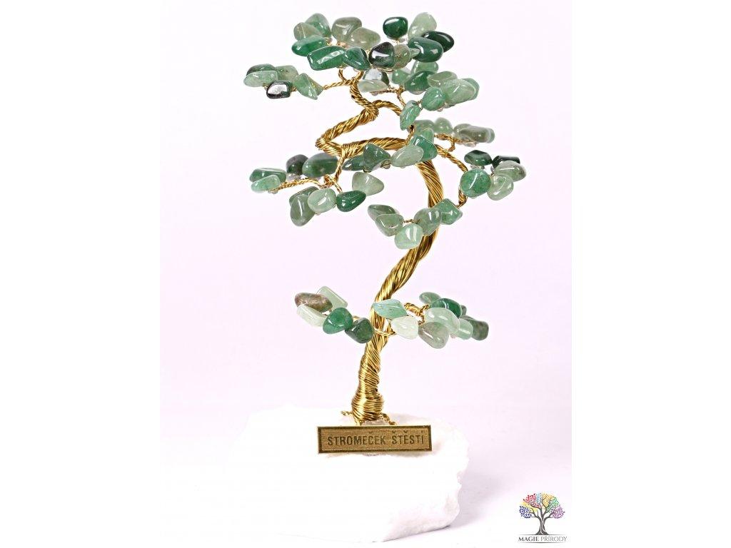 Avanturinový stromeček štěstí 15 cm - B1 - #92  + sleva 5% po registraci na většinu zboží + dárek k objednávce