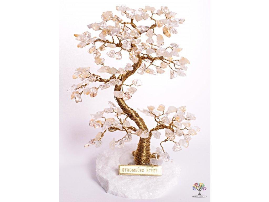 Citrínový stromeček štěstí 17 cm - A2 - #99  + sleva 5% po registraci na většinu zboží + dárek k objednávce