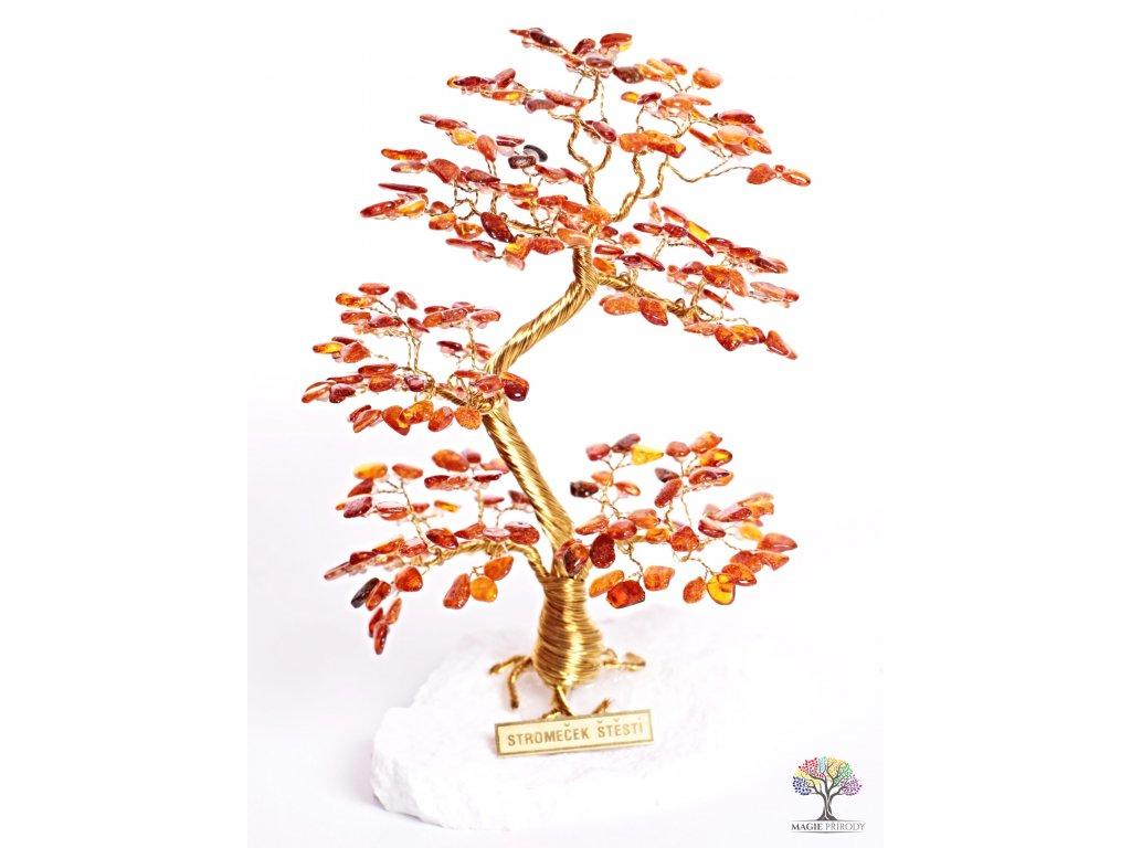 Jantarový stromeček štěstí 17 cm - A2 - #100  + sleva 5% po registraci na většinu zboží + dárek k objednávce