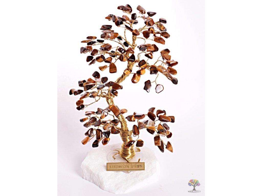 Tygří oko stromeček štěstí 17 cm - A2 - #101  + sleva 5% po registraci na většinu zboží + dárek k objednávce
