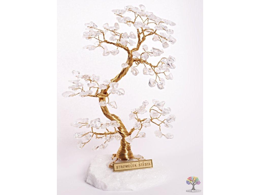Křišťálový stromeček štěstí 17 cm - A2 - #103