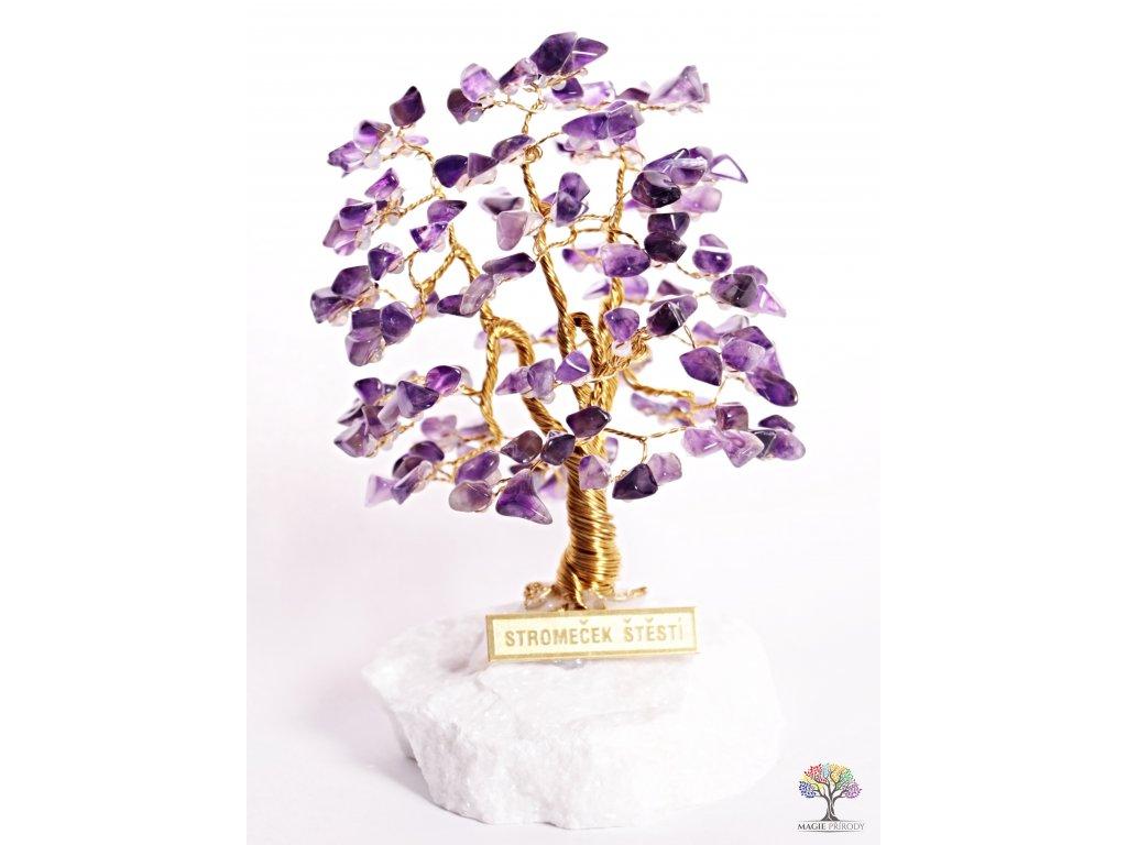 Ametystový stromeček štěstí 12 cm - A1 - #109