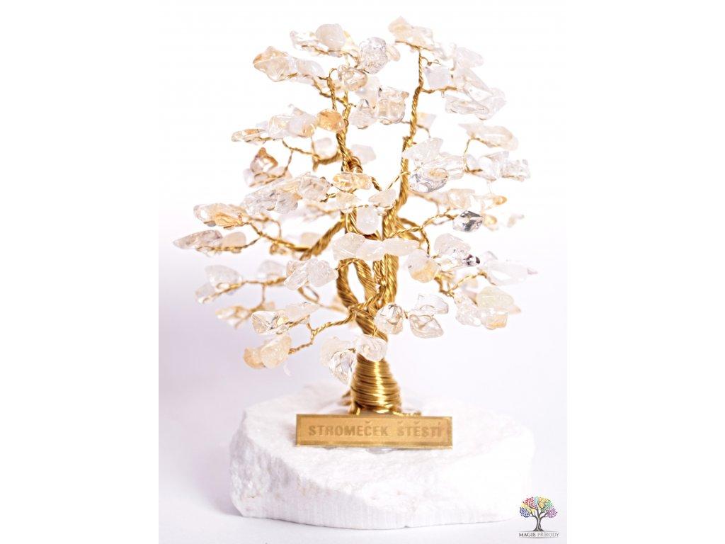 Citrínový stromeček štěstí 12 cm - A1 - #112