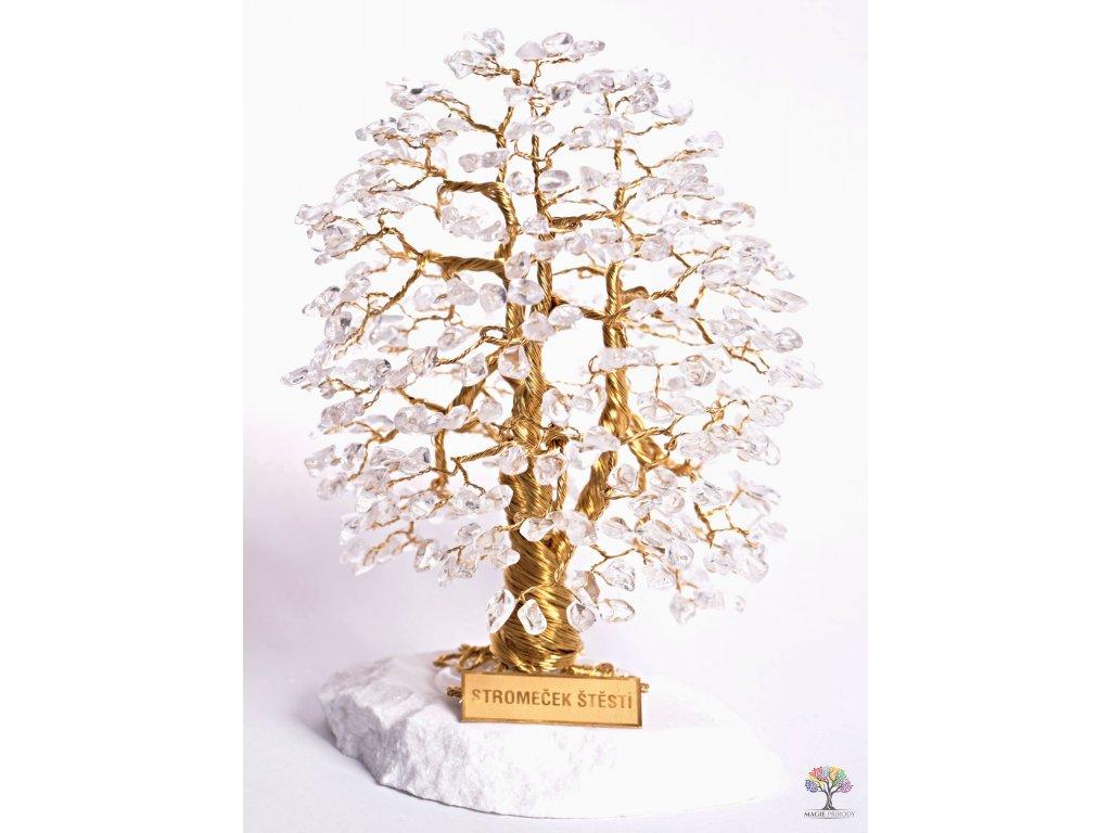 Křišťál stromeček štěstí 20 cm - A3 - #117