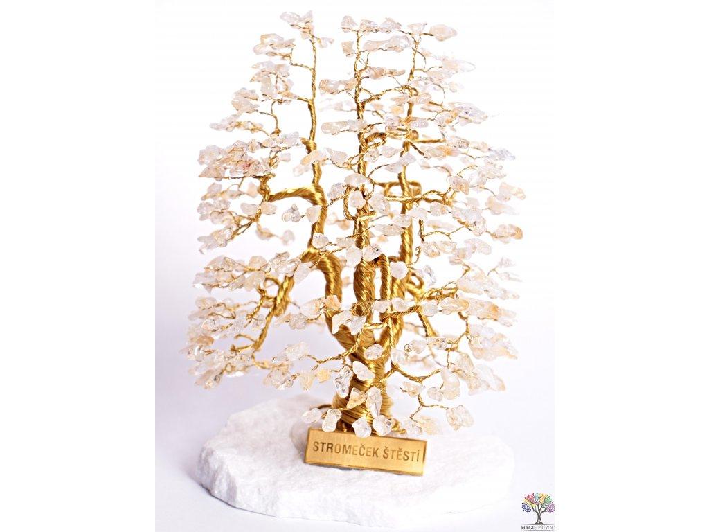 Citrín stromeček štěstí 20 cm - A3 - #120