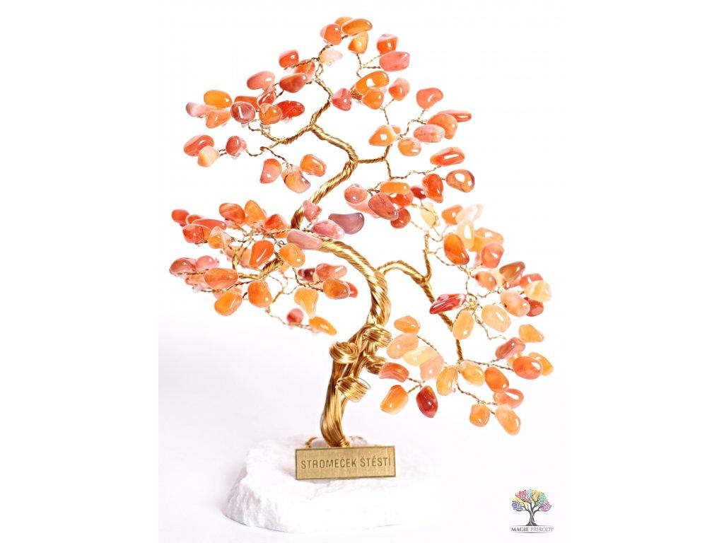 Karneol stromeček štěstí 25 cm - B3 - #125  + sleva 5% po registraci na většinu zboží + dárek k objednávce