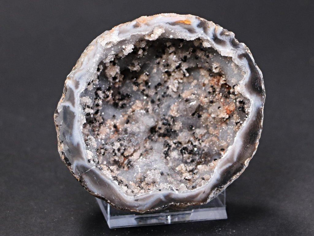 Achát peříčkový 7 cm - geoda - Top kvalita - #44
