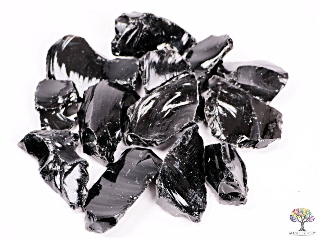 Obsidián Černý surový 5 - 10 cm - TOP kvalita 1 kg  + až 10% sleva po registraci