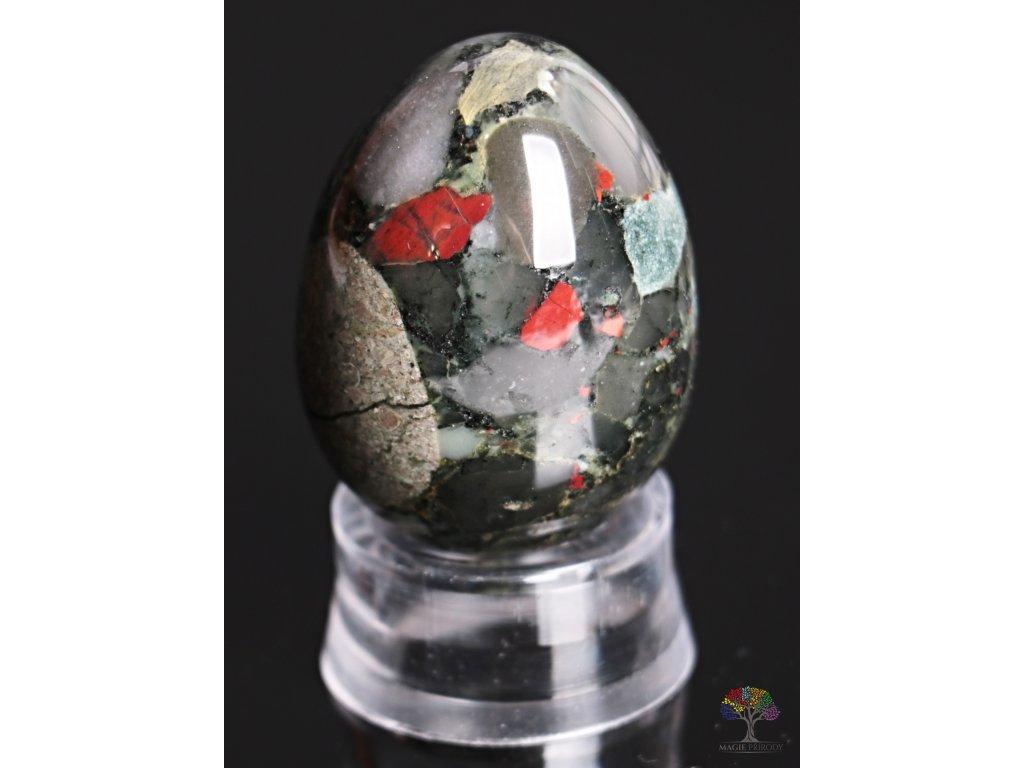 Yoni kamenné vajíčko - Heliotrop - #14