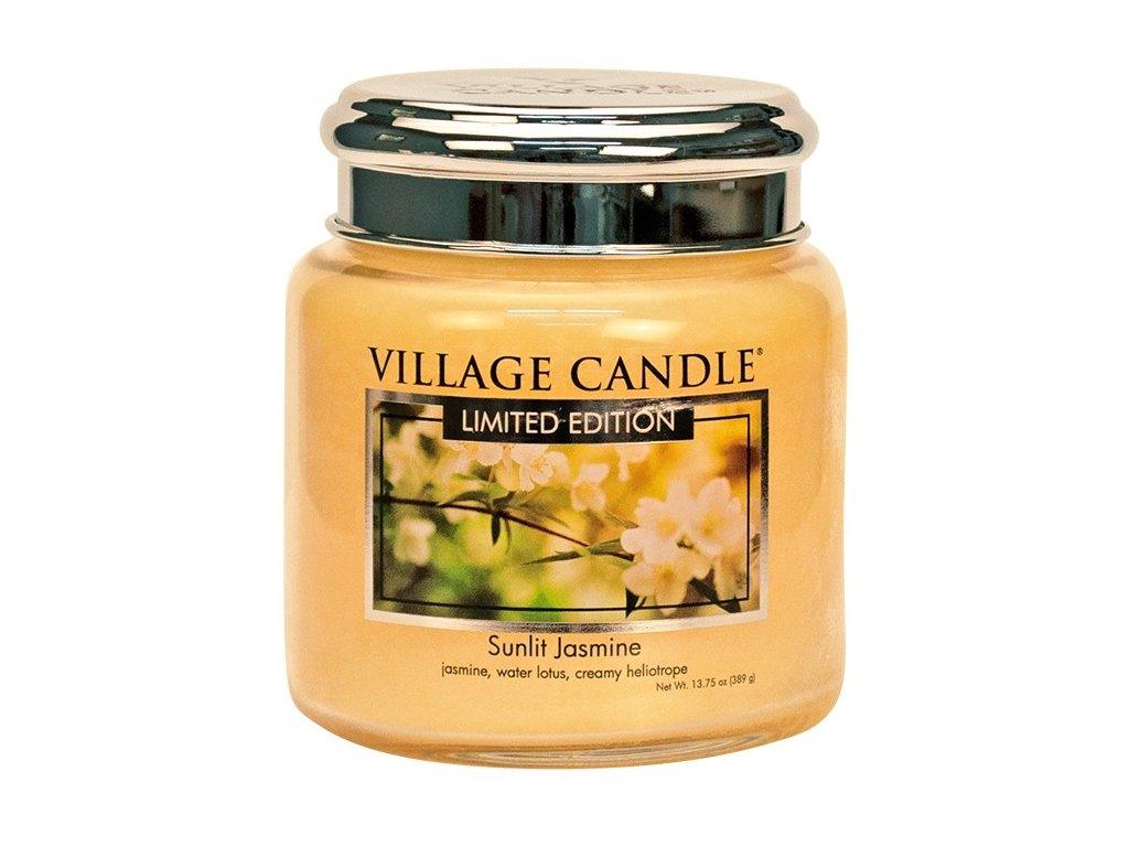 village candle vonna svicka ve skle sunlit jasmine 16oz