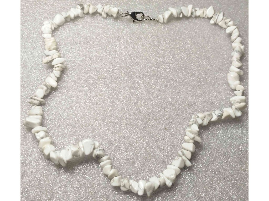 Náhrdelník sekaný - Magnezit - tromlovaný - 40