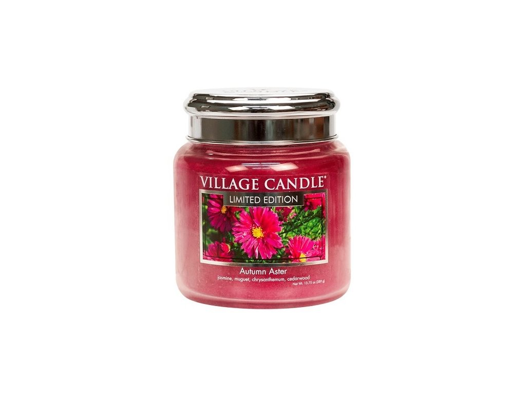 village candle vonna svicka ve skle autumn aster 16oz