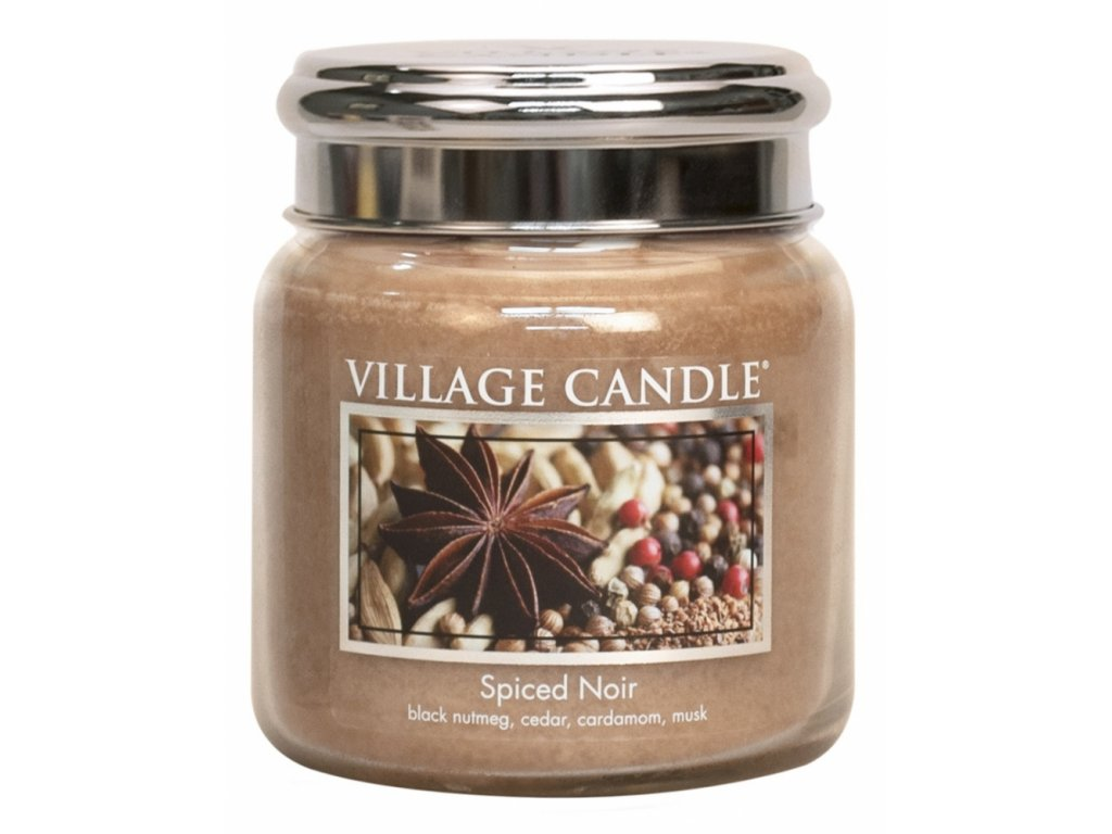 village candle vonna svicka ve skle koreni zivota spiced noir 16oz