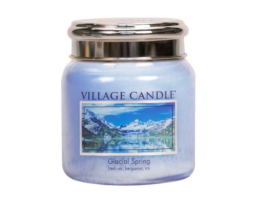village candle vonna svicka ve skle ledovcovy vanek glacial spring 16oz