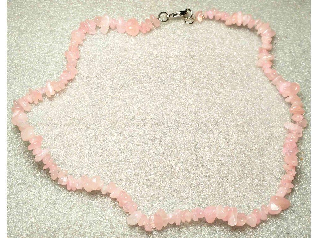 Náhrdelník Růženín tromlovaný #28 - z přírodních kamenů  + sleva 5% po registraci na většinu zboží + dárek k objednávce
