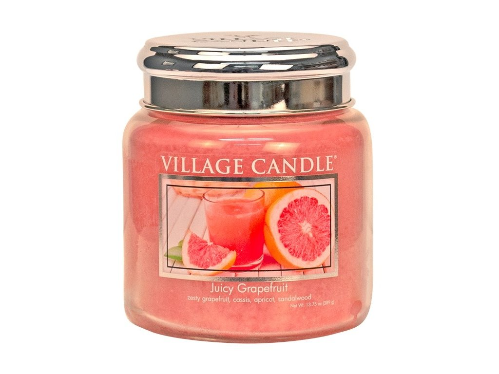 village candle vonna svicka ve skle juicy grapefruit 16oz