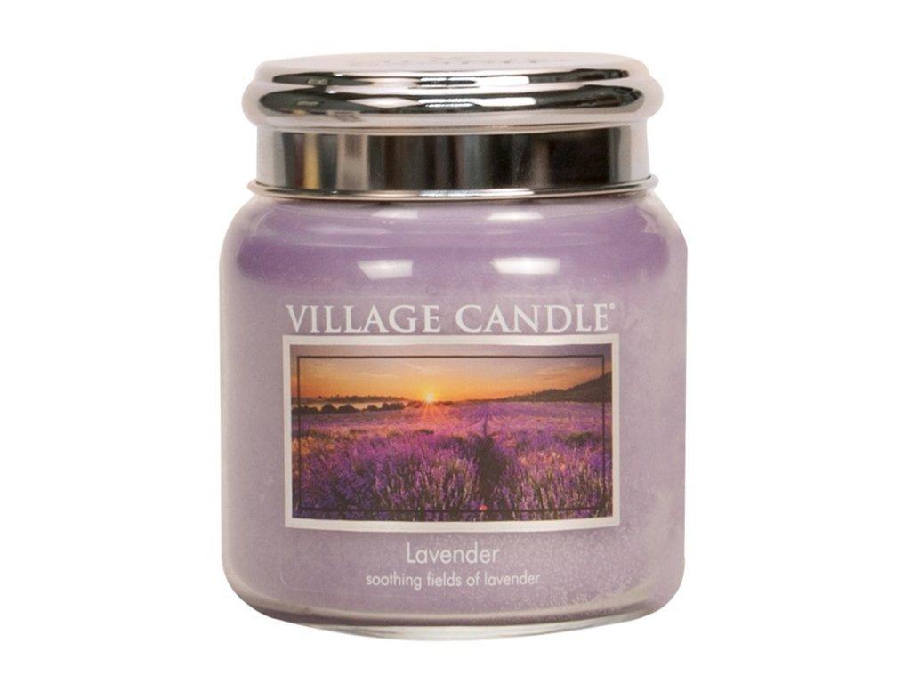 village candle vonna svicka ve skle levandule lavender 16oz
