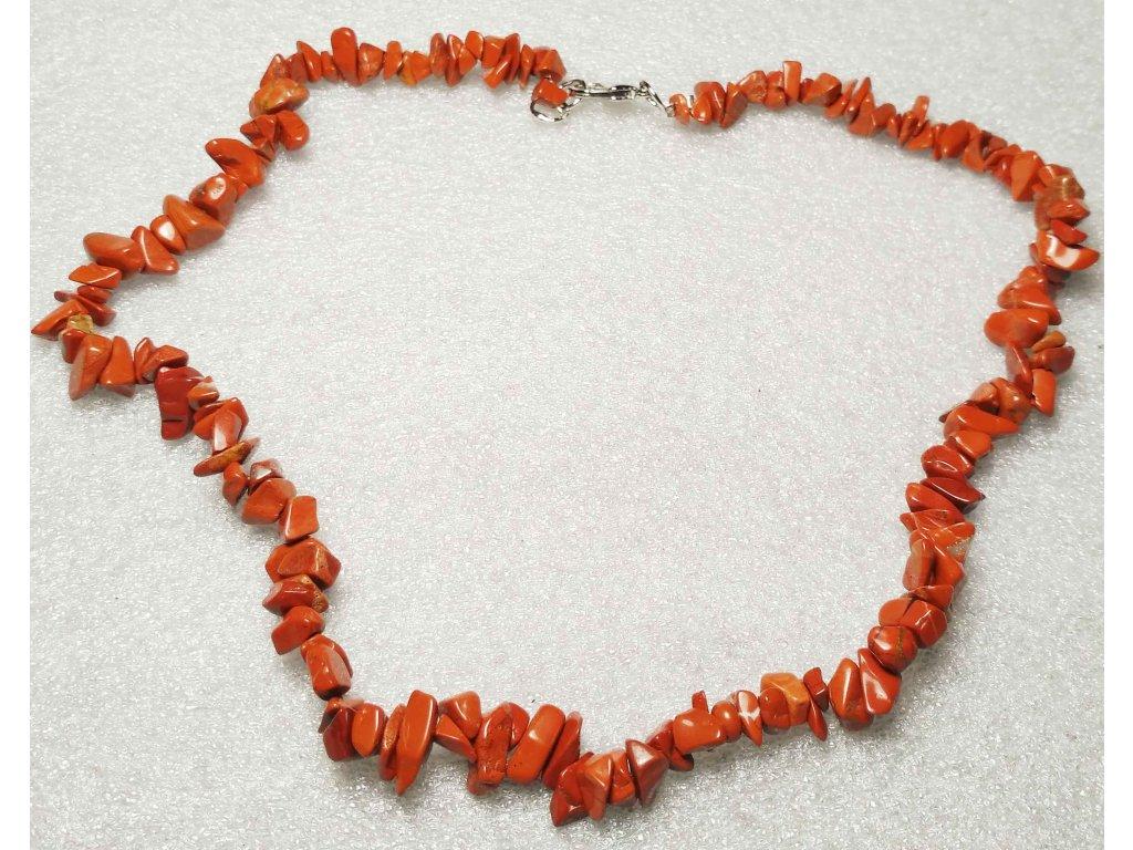 Náhrdelník Jaspis červený tromlovaný #13 - z přírodních kamenů  + sleva 5% po registraci na většinu zboží + dárek k objednávce