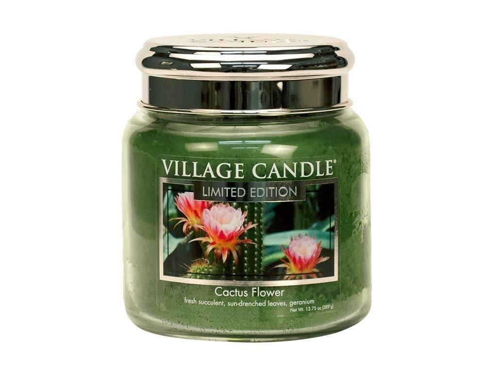 village candle vonna svicka ve skle cactus flower 16oz
