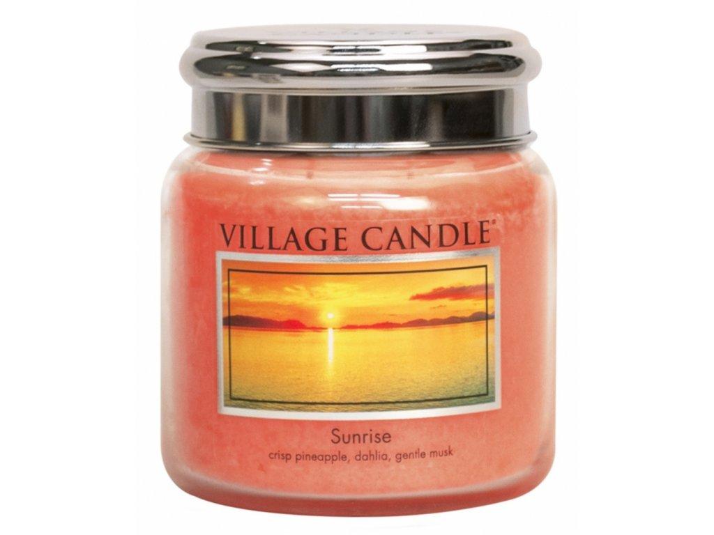 village candle vonna svicka ve skle vychod slunce sunrise 16oz