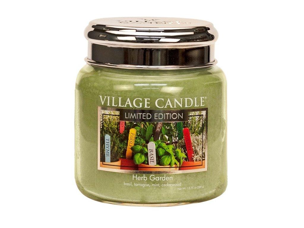 Vonná svíčka ve skle Herb Garden 390g #36 Village Candle 16oz  + sleva 5% po registraci na většinu zboží + dárek k objednávce
