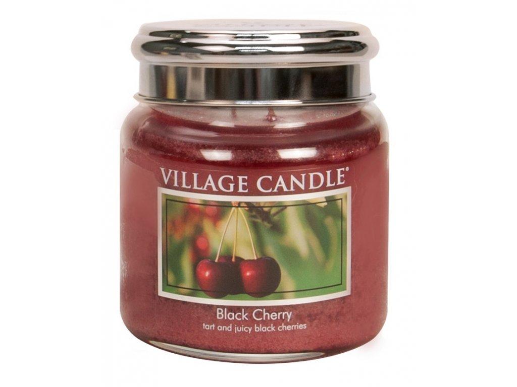 village candle vonna svicka ve skle cerna tresen black cherry 16oz
