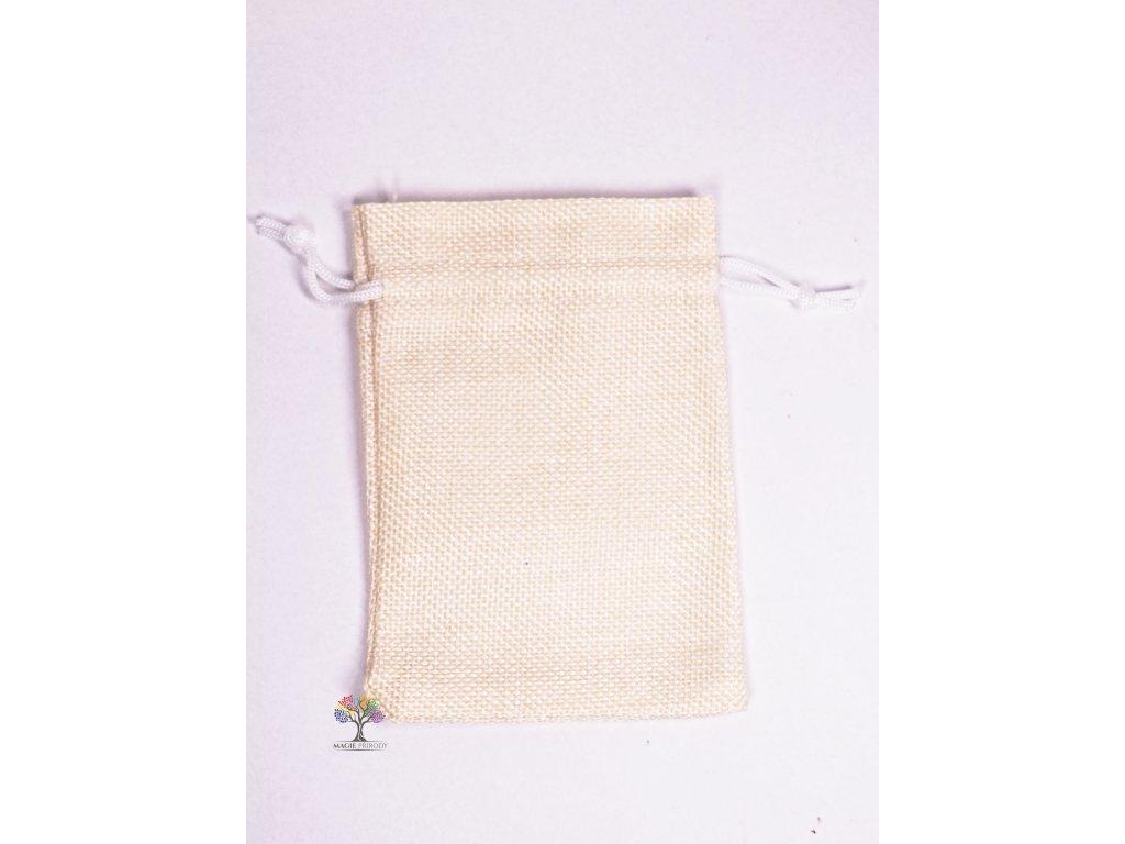 Dárková taška - Jutový pytlík vanilka 10x14 cm - 02