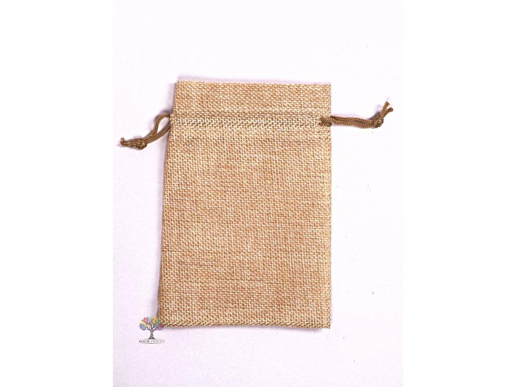 Dárková taška - Jutový pytlík světle béžová 10x14 cm - 03  + až 10% sleva po registraci