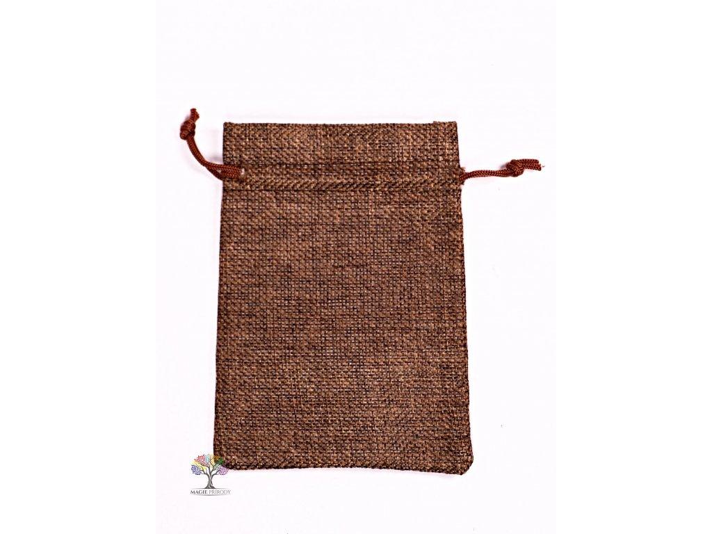 Dárková taška - Jutový pytlík tmavě hnědá 10x14 cm - 06  + až 10% sleva po registraci