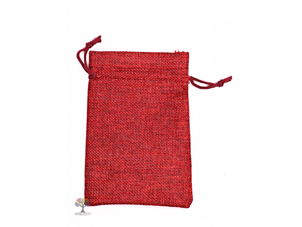 Dárková taška - Jutový pytlík bordó 10x14 cm - 10  + až 10% sleva po registraci