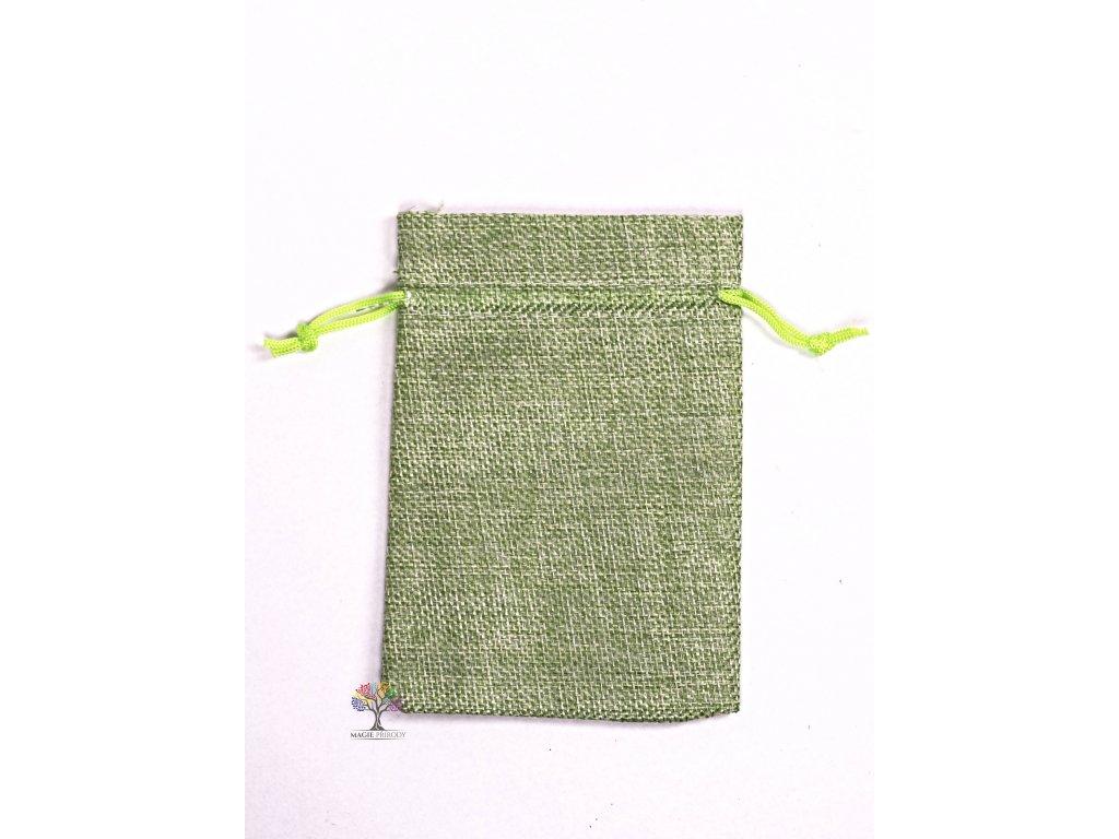 Dárková taška - Jutový pytlík zelená 10x14 cm - 13  + sleva 5% po registraci na většinu zboží + dárek k objednávce