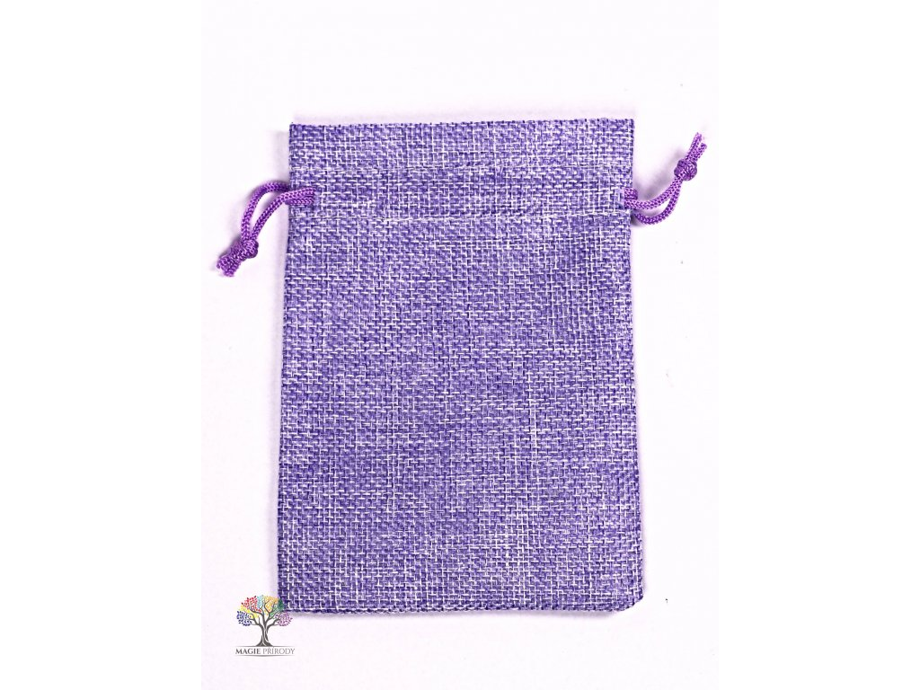 Dárková taška - Jutový pytlík fialová 10x14 cm - 14