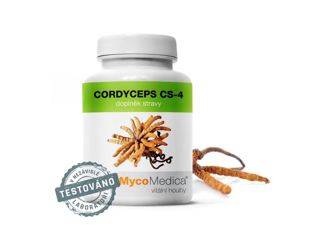 Cordyceps CS-4 90 želatinových kapslí #41   MycoMedica  + dárek k objednávce + doprava zdarma při nákupu nad 1000,-