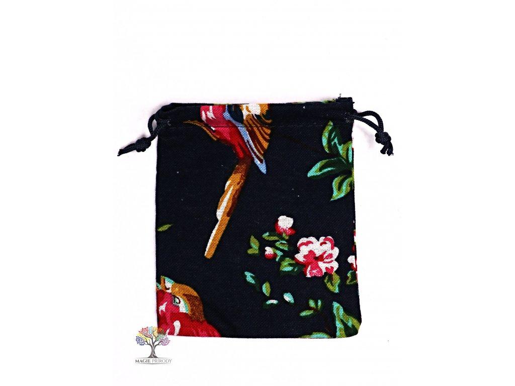 Dárková taška - pytlík vzor květin 10x12 cm - 15  + sleva 5% po registraci na většinu zboží + dárek k objednávce